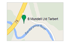 B Mundell Haulage and Parcel tarbet map