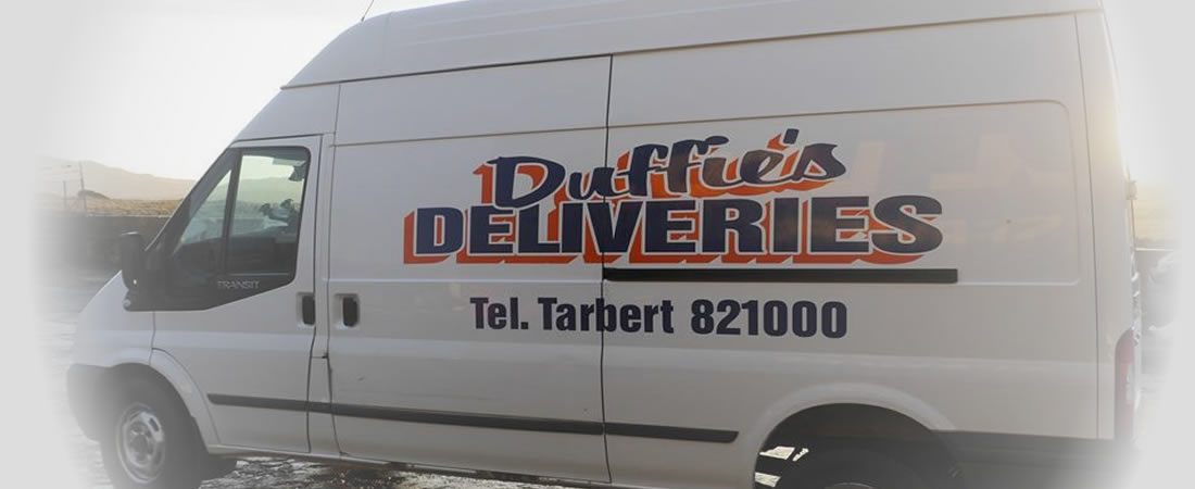 Duffie's parcel delivery services of Islay
